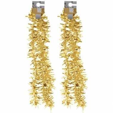 2x gouden folieslingers grof 180 cm prijs