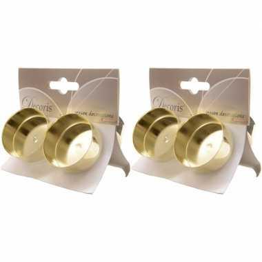 2x gouden waxinelichthouders 4 stuks prijs