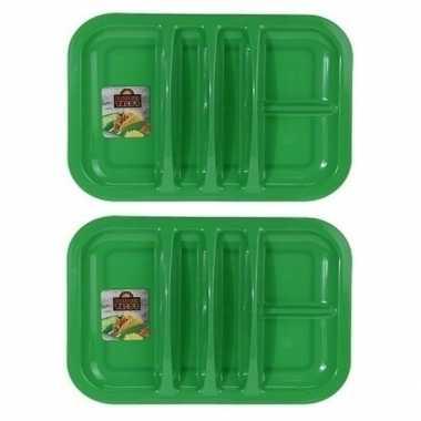 2x groen taco bord 5-vaks 26 cm prijs