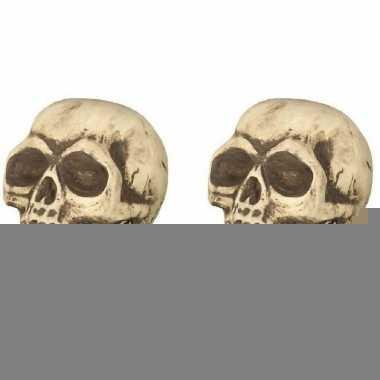 2x halloween decoratie schedels 32 cm prijs