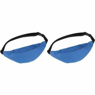 2x heuptassen/fanny packs blauw met verstelbare band prijs