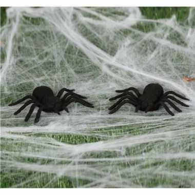 2x horror spinnen 10 cm halloween decoratie prijs
