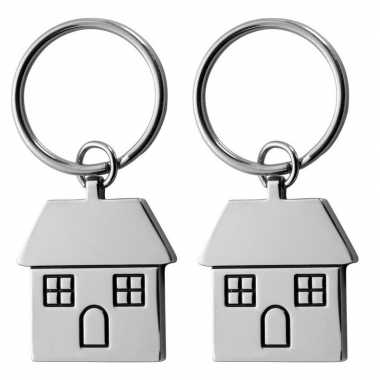 2x housewarming sleutelhanger 7 cm prijs