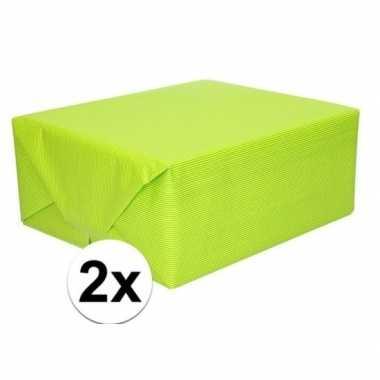2x kaftpapier lime groen 70 x 200 cm kraftpapier prijs