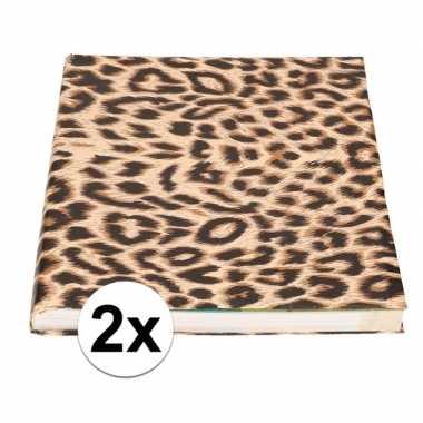 2x kaftpapier panterprint/luipaardprint 400 cm prijs
