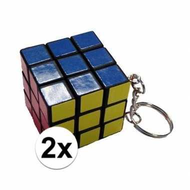 2x kubus puzzels sleutelhangers prijs