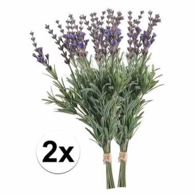 2x lavendel kunst takjes 33 cm prijs