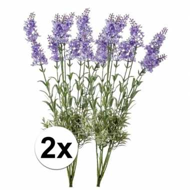 2x licht paarse lavendel kunstplant 40 cm prijs