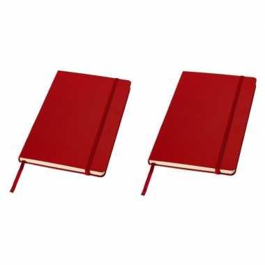 2x luxe schrift a5 formaat met rode harde kaft prijs