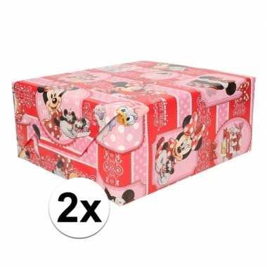 2x minnie mouse cupcake geschenkpapier prijs
