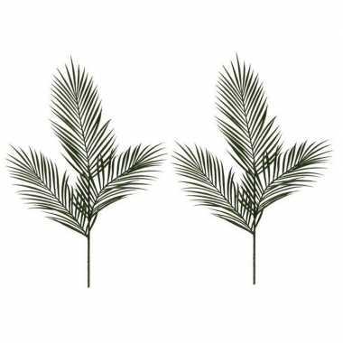 2x nep planten areca goudpalm kunstbloemen takken 95 cm decoratie pri