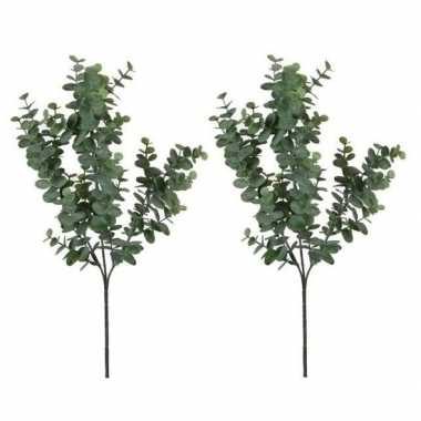 2x nep planten eucalyptus kunstbloemen takken 65 cm decoratie prijs