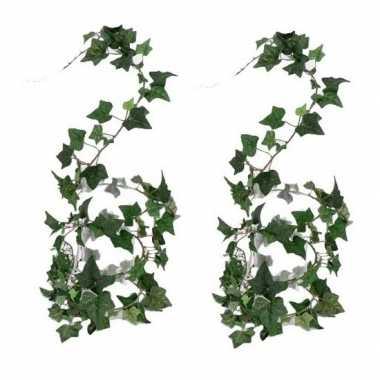 2x nep planten groene hedera helix klimop kunstplanten 180 cm prijs
