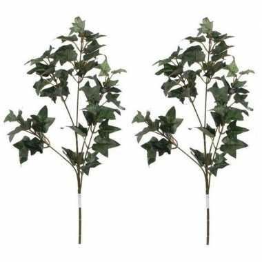 2x nep planten hedera klimop kunstbloemen takken 55 cm decoratie prij