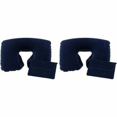 2x opblaas nekkussentjes blauw prijs