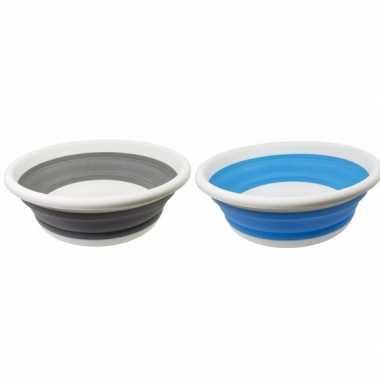 2x opvouwbare afwasteil blauw / grijs 14l prijs