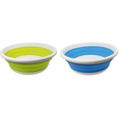 2x opvouwbare afwasteil lime groen / blauw 14l prijs