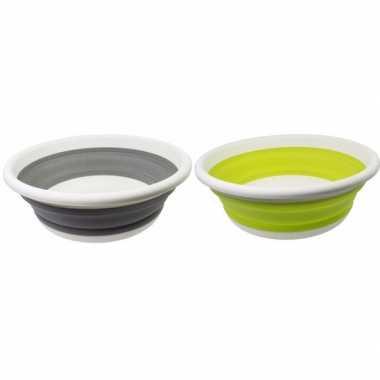 2x opvouwbare afwasteil lime groen / grijs 14l prijs