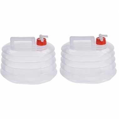 2x opvouwbare watertank/jerrycan 5 liter prijs