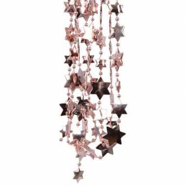 2x oud roze kerstboom sterren kralenketting 270 cm prijs