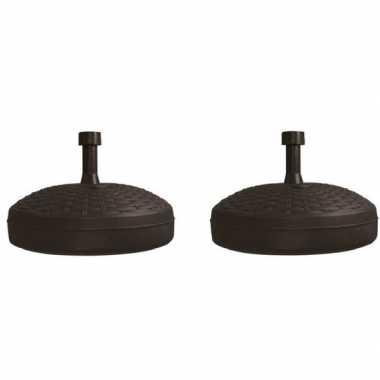 2x parasolstandaard zwart rond platic prijs