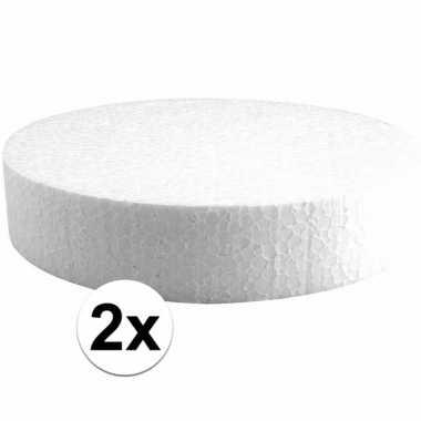 2x piepschuimen taart schijven 20 cm prijs