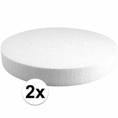 2x piepschuimen taart schijven 30 cm prijs