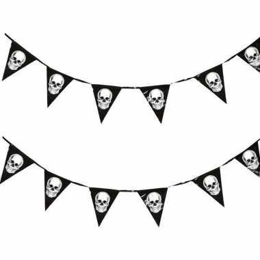 2x piraten vlaggenlijnen met schedels 360 cm prijs