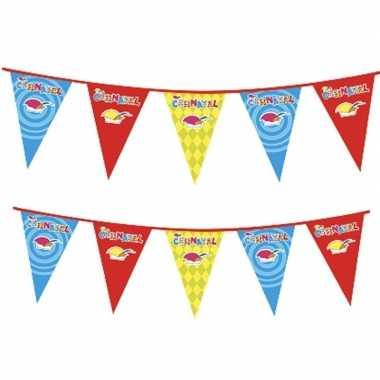 2x plastic carnaval vlaggenlijnen prijs