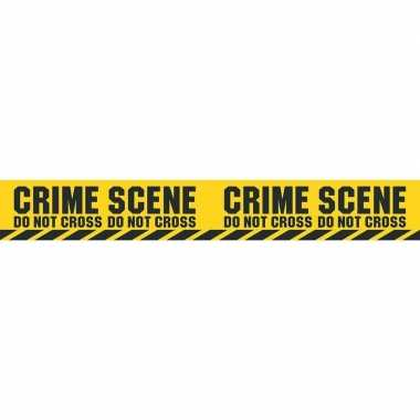 2x politie thema plastic afzetlinten crime scene 600 cm prijs