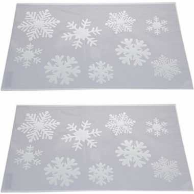 2x sneeuwspray kerst raamsjablonen sneeuwvlokken plaatjes 54 cm prijs