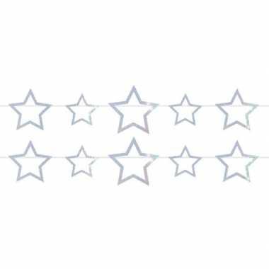 2x sterren holografische feest versiering vlaggenlijnen 4 meter prijs