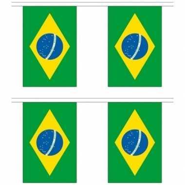 2x stoffen vlaggenlijnen slingers brazilie 3 meter prijs