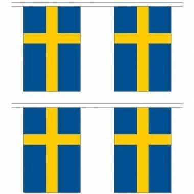 2x stoffen vlaggenlijnen zweden 3 meter prijs
