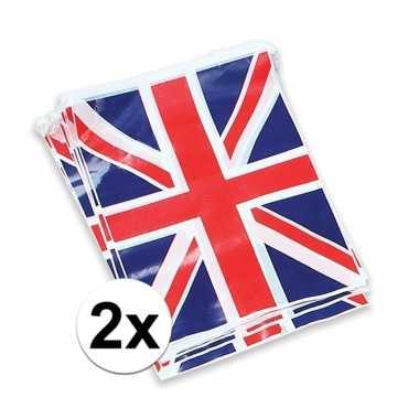 2x vlaggenlijn met de engelse vlag prijs