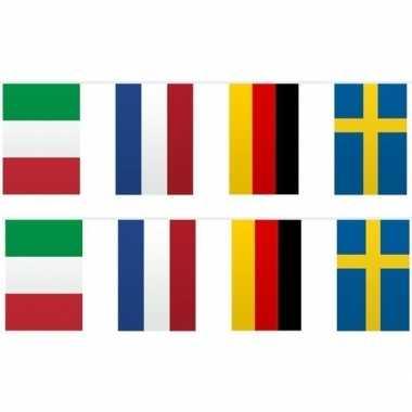 2x vlaggetjeslijn europa 10 meter prijs