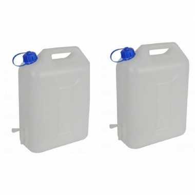 2x water reservoir jerrycan met kraantje 10 liter prijs