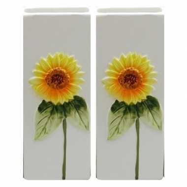 2x witte verwarming verdampers zonnebloem 20 cm prijs