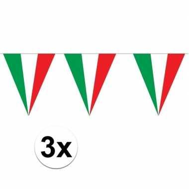 3 stuks puntvlaggetjes italie 5 meter prijs