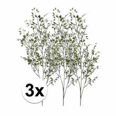 3 x kunsttakken groene buxus tak 75 cm prijs