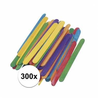 300x gekleurde ijslolly stokjes 5,5 x 2 cm prijs