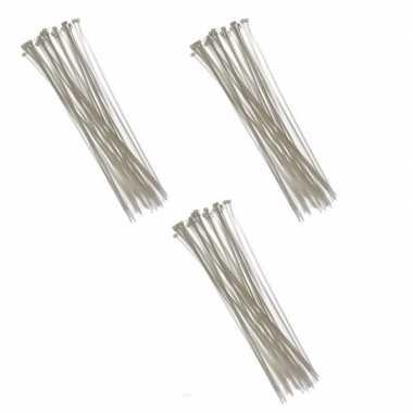 300x kabelbinders tie-ribs wit 3,6 x 200 mm prijs