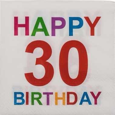 30e Verjaardag Servetten 20 Stuks Prijs Blogshot Nl