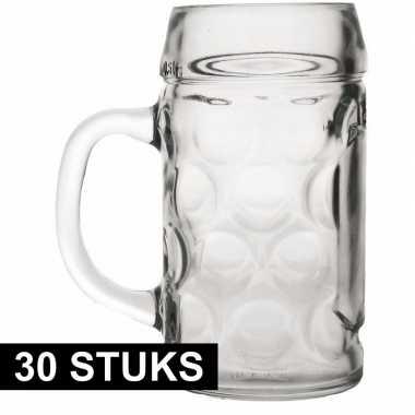 30x bierpullen/bierglazen van 1 liter prijs