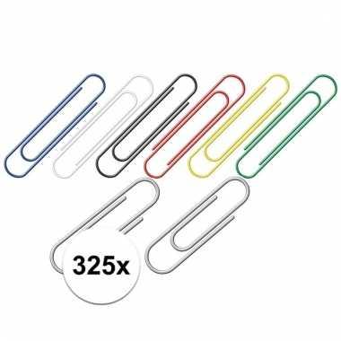 325 papierclips set zilveren en kleur prijs