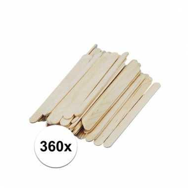360 stuks houten knutsel ijsstokjes prijs