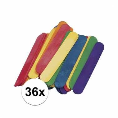 36x ijslolly stokjes 15 x 2 cm prijs