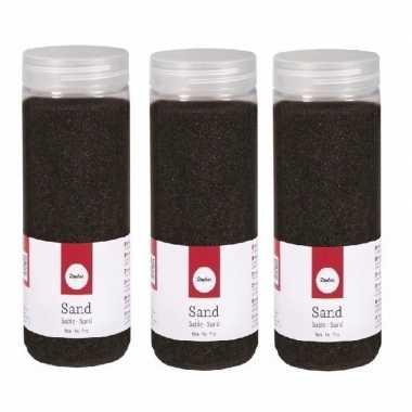 3x 475 ml fijne zandkorreltjes zwart prijs