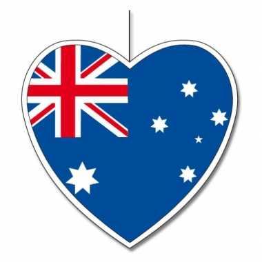 3x australie hangdecoratie harten 14 cm prijs