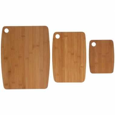 3x bamboehouten snijplanken prijs